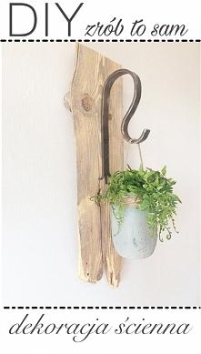 DIY - dekoracja z deski i s...