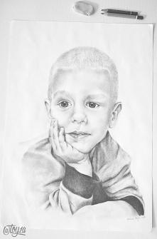 Portret chłopca wykonany na...