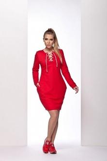 L116 czerwony sukienka