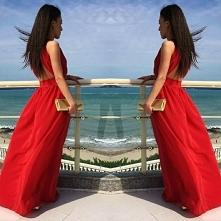 Sukienka Empire (czerwona) 199 zl www sibysi pl