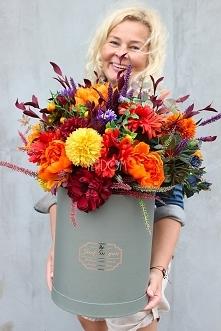 flower box z jesiennymi kwiatami od tendom.pl