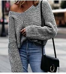 szary sweter ❤