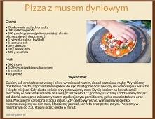 Mamy dla Was prosty, pyszny i zdrowy przepis na zdrową pizzę z musem dyniowym...