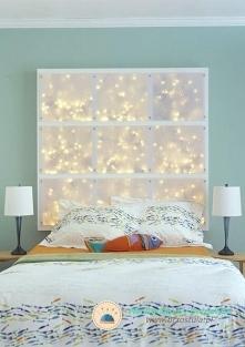 podświetlany zagłówek łóżka