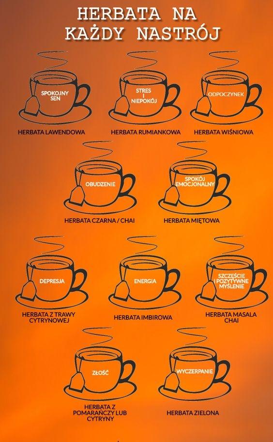 Herbaty na każdy nastrój, szczególnie polecane na jesienne wieczory.