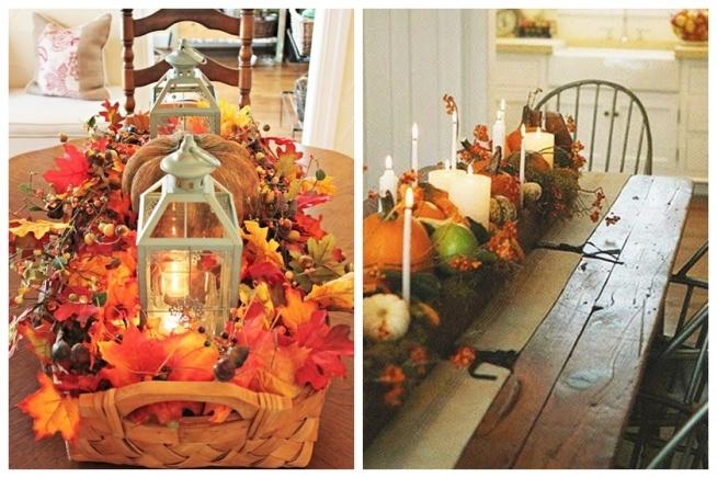 Jesiennymi wieczorami można robić przeróżne dekoracje stołu. :)