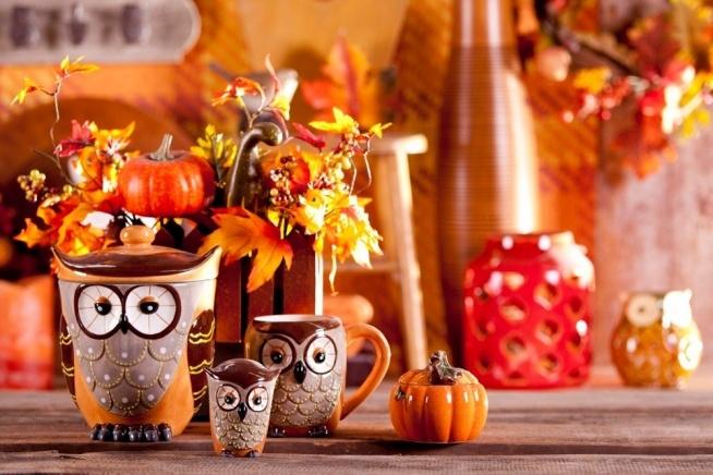 jesienny wieczór to dobry czas na wyciągniecie ozdobnych kubków i picia w nich kakao :)