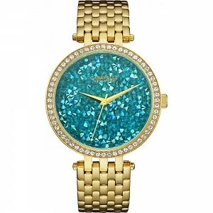 Caravelle 44L230 śliczny zegarek dla kobiet lubiących błyskotki :D W kolorze złotym mocowany na bransolecie a tarczę wypełniają niebieskie kamienie :) Więcej informacji na naszej stronie - w tym celu kliknij w obrazek aby przenieść się na sklep :)