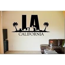 Los Angeles jako naklejka ś...