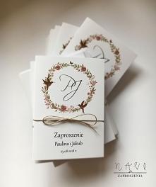 Zaproszenia ślubne z wiankiem