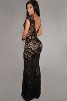 Przepiękna koronkowa sukienka maxi. Pięknie eksponuje plecy, cudownie się układa
