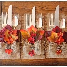 jesienna dekoracja sztućców...