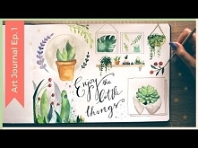 Easy Watercolor Plants | Watercolor Sketchbook Painting Ideas | Art Journal Thursday Ep. 1