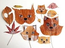 robienie zwierzątek z liści...
