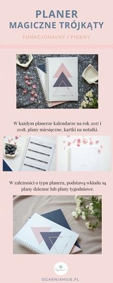 """Planer tygodniowy oraz planer dzienny """"Magiczne Trójkąty"""""""