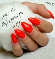 #AnkaNaHybrydowymHaju #paznokcie #hybrydy #manicure #przedłużane #czerwone #c...
