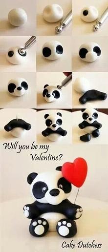 jak zrobić figurkę pandę