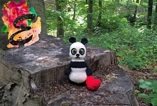 Panda- zabawka wykonana na szydełku ! :D Moja pierwsza zabawka.