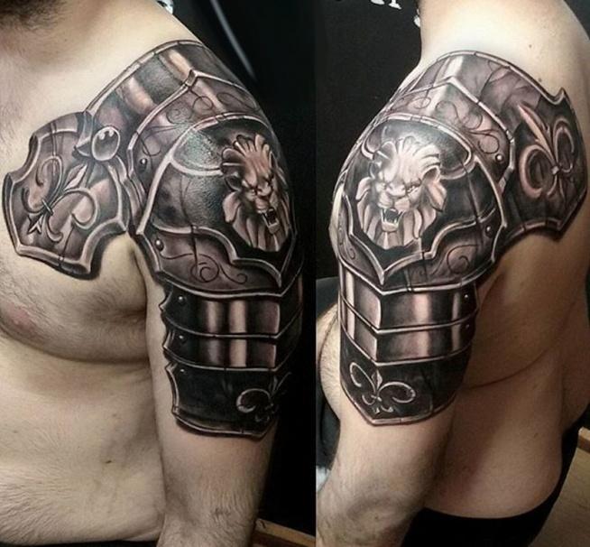 Zbroja Z Lwem Na Tatuaże Zszywkapl