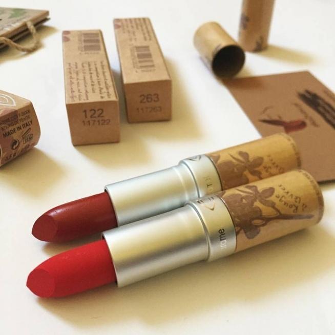 pomadki matowe lub perłowe naturalne ekologiczne kosmetyki Couleur Caramel