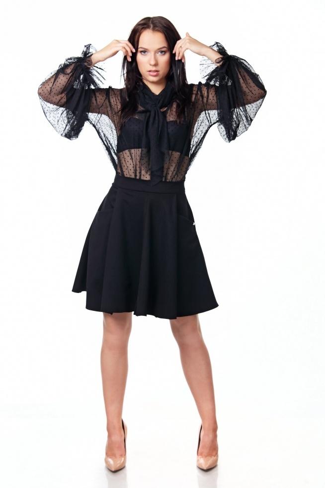 Nasza propozycja na dziś: urocza spódniczka z kieszeniami oraz zmysłowa tiulowa bluzeczka Silky <3 Zapraszamy do naszego sklepu! :)