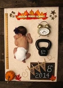 świetna pamiątka noworodkowa :) metryczka