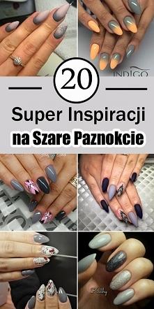 20 Super Inspiracji na Szare Paznokcie [GALERIA]