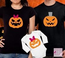 """Komplet dla rodziców i córki """"Dynie na Halloween"""""""
