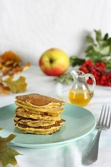 Dyniowe placuszki z jabłkami. Pyszne, zdrowe, bez mleka, jajek, cukru rafinow...