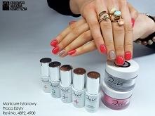 Piękna stylizacja manicure tytanowego :)