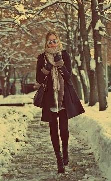 Jaka zima taki ubiór! Pięknie i stylowo! :*