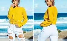 Super sweterek z ciekawym s...