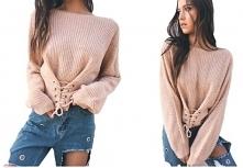 Seksowny sweterek w dziewcz...