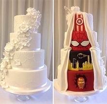 pomysłowy tort ślubny