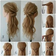 spięcie z rozpuszczonymi włosami