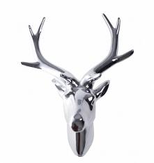 Poroże na ścianę - głowa renifera srebrna. Dekoracja wykonana z tworzywa w kolorze srebrnym z połyskiem. Wyjątkowa dekoracja. Pasuje do każdego wnętrza - jednak najbardziej do t...