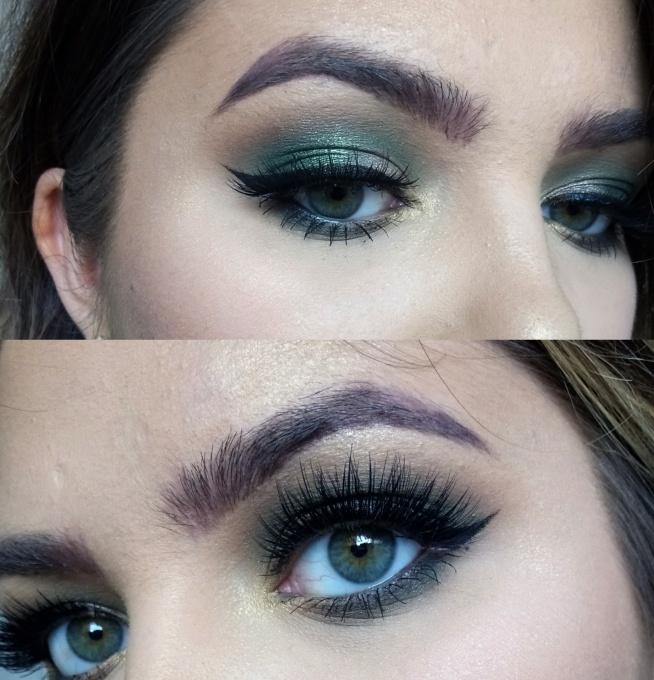 pierwszy makijaż nową paletką od makeup revolution mint chocolate :)