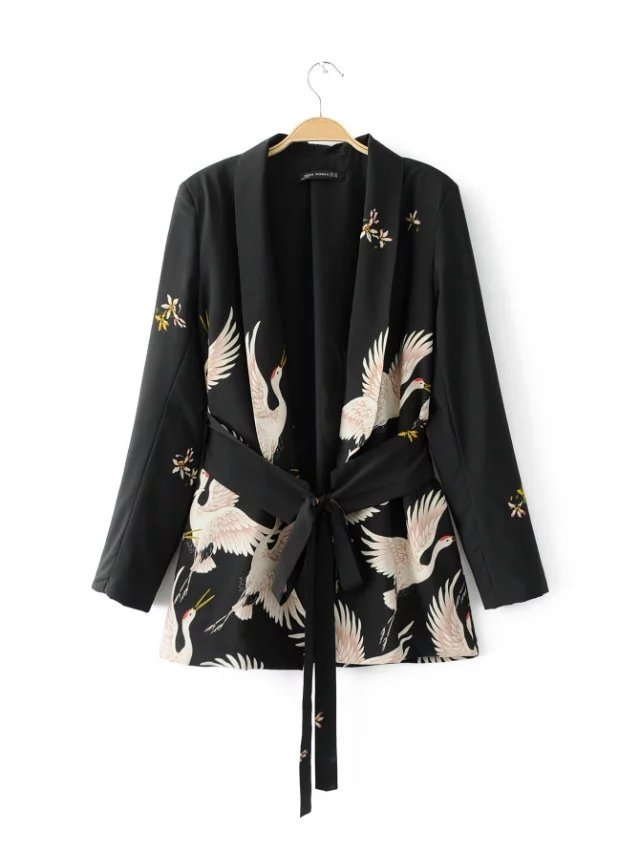 Lekki płaszczyk, narzutka, kimono, w urocze żurawie :) Kliknij w zdjęcie i zobacz, gdzie ją kupić ;)