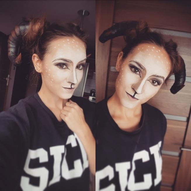 Sweet deer/satyr/faun makeup Halloween