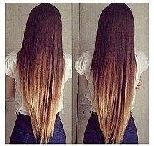 przepiękne włosy tylko pozazdrościć długie proste i do tego jeszcze ombre