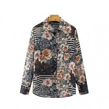 Damska szyfonowa koszula-mgiełka w kwiaty i paski ♥ Cudo! Kliknij w zdjęcie i zobacz, gdzie kupić.