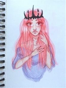 rysunek pastel goth :3 instagram: sarzatko fb/deviantart: siarczi  fb: Siarczi dA: Siarczi