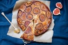 Odwrócone ciasto z figami