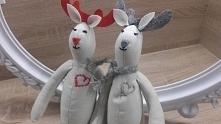 Łosie,króliki, poduszki...to co lubię szyć;)