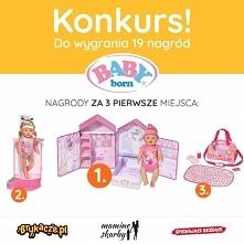 Do wygrania super Lalka Baby Born wraz z domkiem oraz 18 innych nagród! Znajdź nas na FB - facebook com/Brykacze