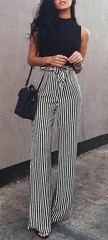 Piękne, wracające do mody spodnie. Elegancja Francja! Fajne połączenie i zaws...