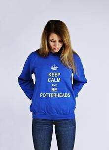 Bluza KEEP CALM AND BE POTTERHEADS - bluza z nadrukiem dla potterheads super pomysł na prezent. Modna damska i męska bluza młodzieżowa z napisami - bluza dla nastolatków do szko...