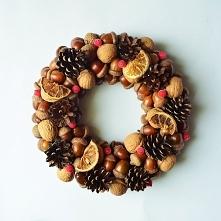 Wianek świąteczny z pomarańczami, zapraszam na zielonamieta. dawanda.com