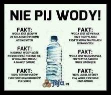nie pij wody