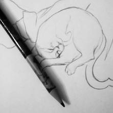 Od rana rysuję a za oknem ☔
